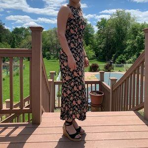 Vintage Fit Floral Maxi Dress